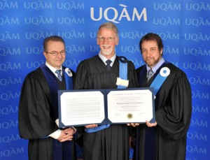 Hamish Kimmins honored with degree of Doctor of Science, honoris causa, by the University of Quebec at Montreal (UQAM)